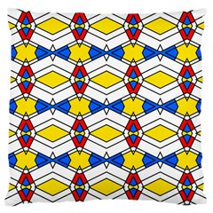 Colorful Rhombus Chains Large Cushion Case (two Sides) by LalyLauraFLM
