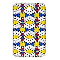Colorful Rhombus Chains Samsung Galaxy Tab 3 (7 ) P3200 Hardshell Case  by LalyLauraFLM