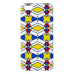 Colorful Rhombus Chains Iphone 5s Premium Hardshell Case by LalyLauraFLM