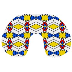 Colorful Rhombus Chains Travel Neck Pillow