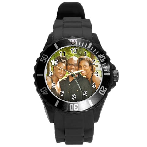 By Heather Gibson   Round Plastic Sport Watch (l)   8fhhazlbg9aj   Www Artscow Com Front