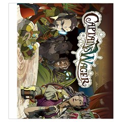 Captains Wager By Ray Dana   Drawstring Pouch (large)   I9mareccq27a   Www Artscow Com Front