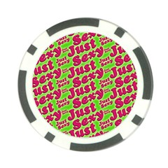 Just Sexy Quote Typographic Pattern Poker Chip Card Guards by dflcprints