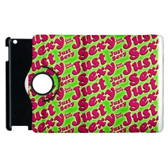 Just Sexy Quote Typographic Pattern Apple Ipad 2 Flip 360 Case by dflcprints