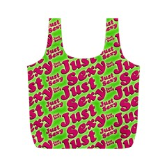 Just Sexy Quote Typographic Pattern Full Print Recycle Bags (m)  by dflcprints
