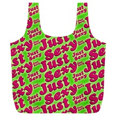 Just Sexy Quote Typographic Pattern Full Print Recycle Bags (l)  by dflcprints