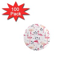 Flamingo Pattern 1  Mini Magnets (100 Pack)  by Contest580383