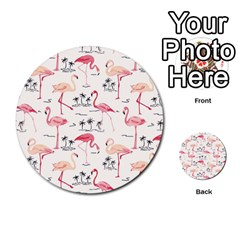 Flamingo Pattern Multi Purpose Cards (round)