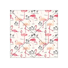 Flamingo Pattern Acrylic Tangram Puzzle (4  x 4 ) by Contest580383