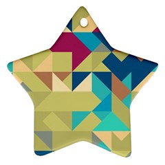 Scattered Pieces In Retro Colors Ornament (star)