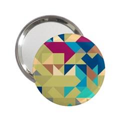 Scattered Pieces In Retro Colors 2 25  Handbag Mirror