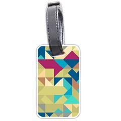 Scattered Pieces In Retro Colors Luggage Tag (two Sides) by LalyLauraFLM