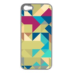 Scattered Pieces In Retro Colors Apple Iphone 5 Case (silver) by LalyLauraFLM