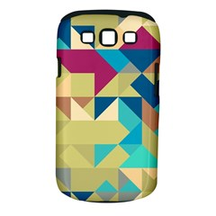 Scattered Pieces In Retro Colors Samsung Galaxy S Iii Classic Hardshell Case (pc+silicone) by LalyLauraFLM