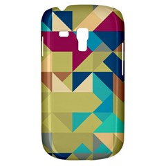 Scattered Pieces In Retro Colors Samsung Galaxy S3 Mini I8190 Hardshell Case by LalyLauraFLM
