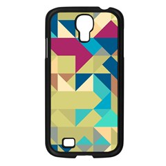 Scattered Pieces In Retro Colors Samsung Galaxy S4 I9500/ I9505 Case (black) by LalyLauraFLM