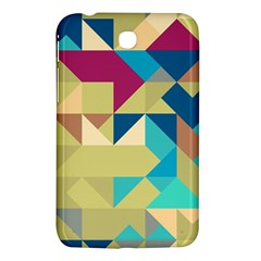 Scattered Pieces In Retro Colors Samsung Galaxy Tab 3 (7 ) P3200 Hardshell Case  by LalyLauraFLM