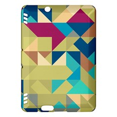 Scattered Pieces In Retro Colors Kindle Fire Hdx Hardshell Case by LalyLauraFLM