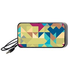 Scattered Pieces In Retro Colors Portable Speaker