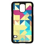 Scattered pieces in retro colors	Samsung Galaxy S5 Case Front