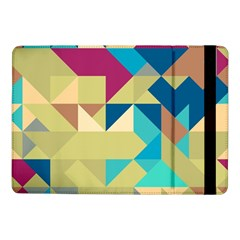 Scattered Pieces In Retro Colorssamsung Galaxy Tab Pro 10 1  Flip Case by LalyLauraFLM