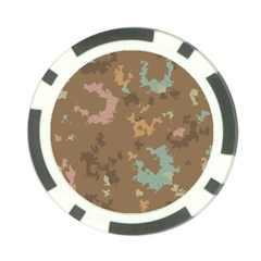 Paint Strokes In Retro Colors Poker Chip Card Guard by LalyLauraFLM