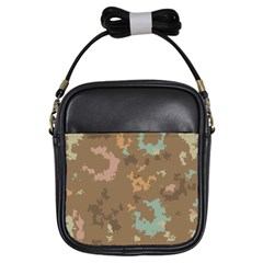 Paint Strokes In Retro Colors Girls Sling Bag by LalyLauraFLM