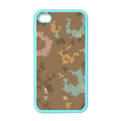 Paint Strokes In Retro Colors Apple Iphone 4 Case (color) by LalyLauraFLM
