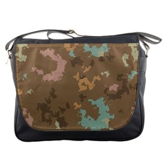 Paint Strokes In Retro Colors Messenger Bag by LalyLauraFLM