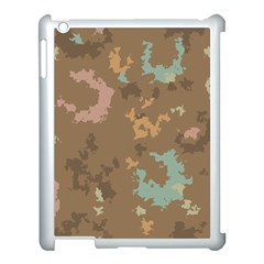 Paint strokes in retro colors Apple iPad 3/4 Case (White) by LalyLauraFLM