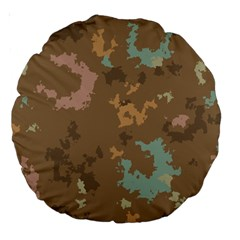Paint Strokes In Retro Colors Large 18  Premium Round Cushion  by LalyLauraFLM