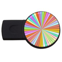 Colorful Beams Usb Flash Drive Round (4 Gb) by LalyLauraFLM