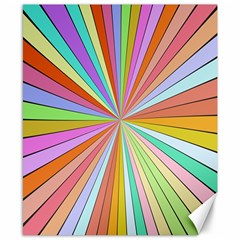 Colorful Beams Canvas 8  X 10  by LalyLauraFLM