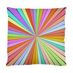 Colorful Beams Standard Cushion Case (two Sides) by LalyLauraFLM