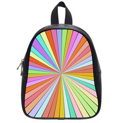 Colorful Beams School Bag (small) by LalyLauraFLM
