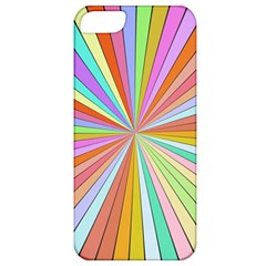 Colorful Beams Apple Iphone 5 Classic Hardshell Case by LalyLauraFLM