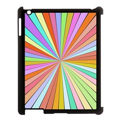 Colorful Beams Apple Ipad 3/4 Case (black) by LalyLauraFLM