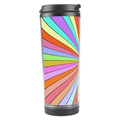 Colorful Beams Travel Tumbler by LalyLauraFLM