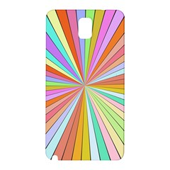 Colorful Beams Samsung Galaxy Note 3 N9005 Hardshell Back Case by LalyLauraFLM