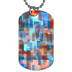 Blue Orange Watercolors Dog Tag (two Sides) by LalyLauraFLM