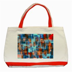 Blue Orange Watercolors Classic Tote Bag (red) by LalyLauraFLM
