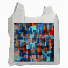 Blue Orange Watercolors Recycle Bag (two Side) by LalyLauraFLM