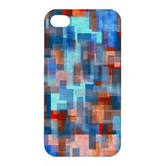 Blue Orange Watercolors Apple Iphone 4/4s Premium Hardshell Case by LalyLauraFLM
