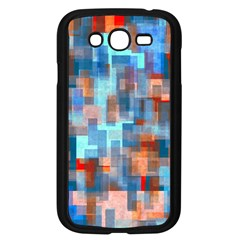 Blue Orange Watercolors Samsung Galaxy Grand Duos I9082 Case (black) by LalyLauraFLM