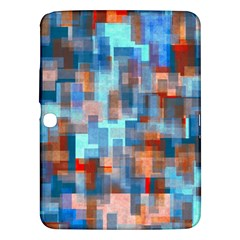 Blue Orange Watercolors Samsung Galaxy Tab 3 (10 1 ) P5200 Hardshell Case  by LalyLauraFLM