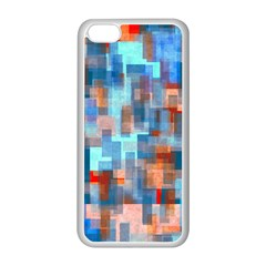 Blue Orange Watercolors Apple Iphone 5c Seamless Case (white) by LalyLauraFLM