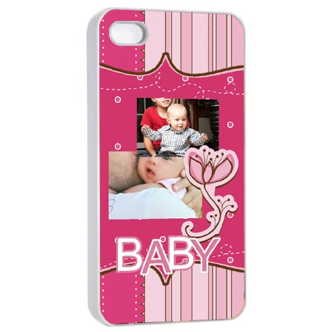 Baby By Baby   Apple Iphone 4/4s Seamless Case (white)   Efiqj2n4aa34   Www Artscow Com Front
