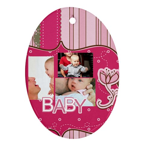 Baby By Baby   Ornament (oval)   N47e9rabtucx   Www Artscow Com Front