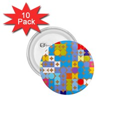 Circles And Rhombus Pattern 1 75  Button (10 Pack)  by LalyLauraFLM
