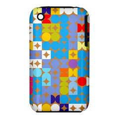 Circles And Rhombus Pattern Apple Iphone 3g/3gs Hardshell Case (pc+silicone) by LalyLauraFLM